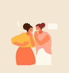 Women friends gossip characters vector