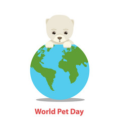world pet day concept vector image