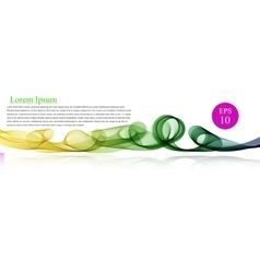 Spectrum wave color Abstract wavy vector image