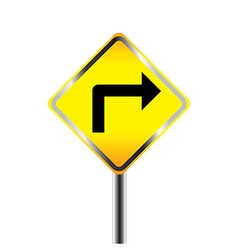 Turn Right traffic sign vector image