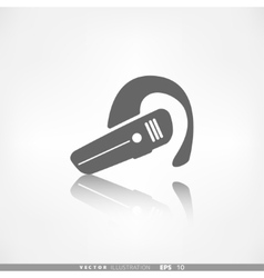 Bluetooth headset icon wireless connection vector