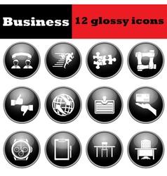 Glossy icon set vector image