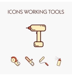 Icons worcking tools vector image vector image