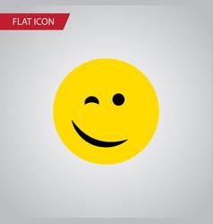 isolated happy flat icon winking element vector image