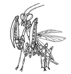 mantis robot vector image