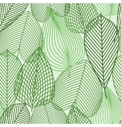 Spring green leaves seamless pattern vector image vector image