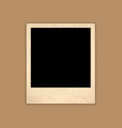 Blank Grunge Photo Frame Polaroid Style vector image vector image