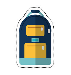 cartoon backpack school design image vector image