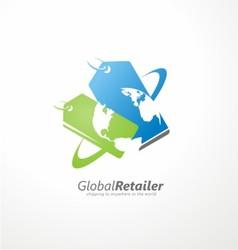 Global retailer creative symbol concept vector image vector image