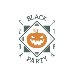 Happy Halloween 2016 black party invitation label vector image vector image
