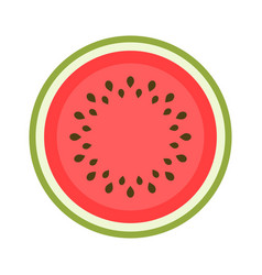 icon of a sweet watermelon isolated on white vector image vector image