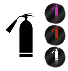 image of a flat fire extinguisher icon with a red vector image