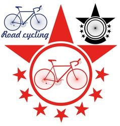 Road cycling vector