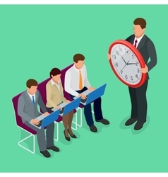 Time management concept planning organization vector image