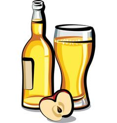 apple cider bottle vector image vector image