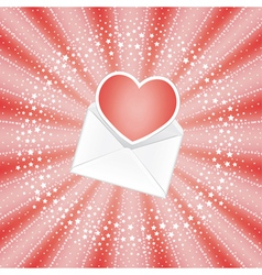 Envelope with heart vector image vector image