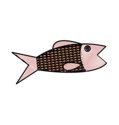 fish sea food fresh animal wild icon vector image vector image