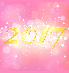 happy new year 2017 on pink abstract background vector image