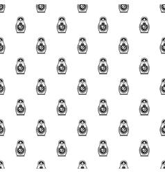 Matryoshka pattern simple style vector image