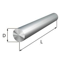 Steel round bars industrial metal object vector image