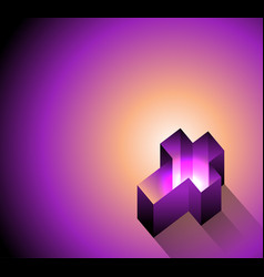 3d glowing christian cross background vector image
