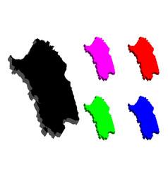 3d map of sardinia vector image