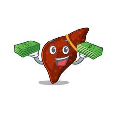 A wealthy human cirrhosis liver cartoon character vector