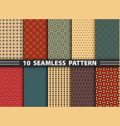 abstract seamless pattern of geometric colorful vector image