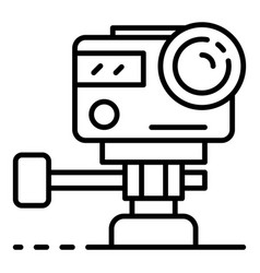 action underwater camera icon outline style vector image