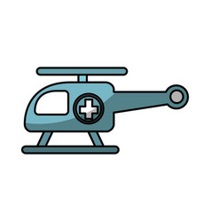 Ambulance helicopter isolated icon vector
