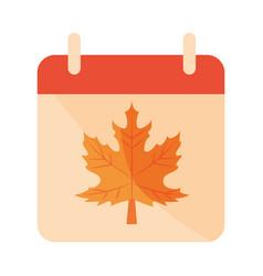autumn calendar reminder season flat icon vector image