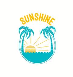 beach print design with slogan vector image