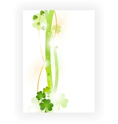 border with shamrocks vector image