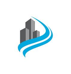 building company symbol vector image