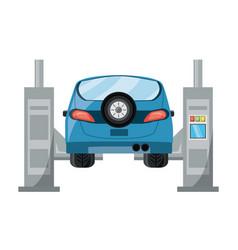 car lift machine icon vector image