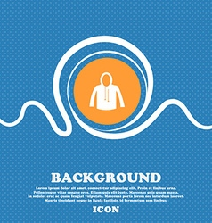 casual jacket icon sign Blue and white abstract vector image