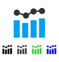 Charts flat icon vector