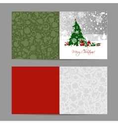 Christmas card sketch for your design vector image