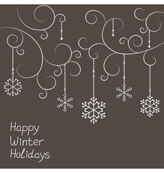 Christmas snowflakes decorations vector image