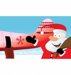 Christmas travel vector