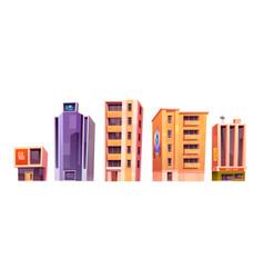 city buildings modern houses architecture set vector image