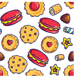 Colorful candies seamless pattern vector