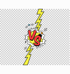 Colorful versus letters with speech bubble vector