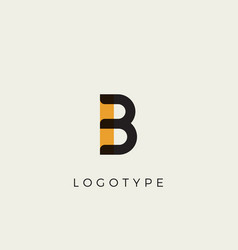 Creative letter b for logo and monogram minimal vector