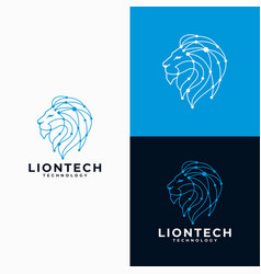 Creative lion head logo design vector
