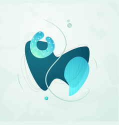 creative minimalist hand drawn abstract vector image