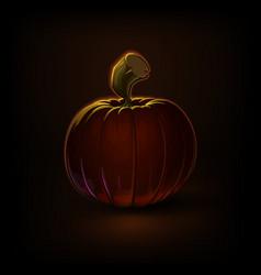 dark halloween pampkins vector image