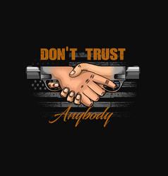 Dont trust anybody symbol vector