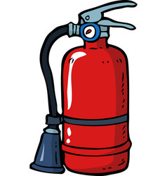 doodle fire extinguisher vector image