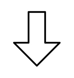 Down arrow basic element icon vector